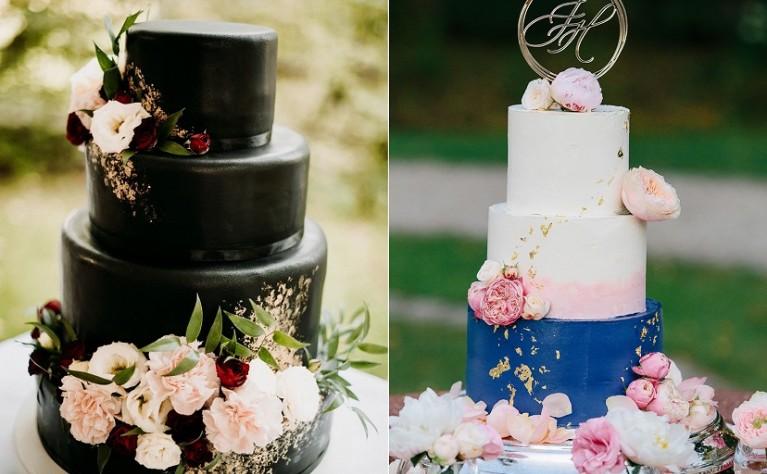 Kolorowe torty weselne - hit 2020