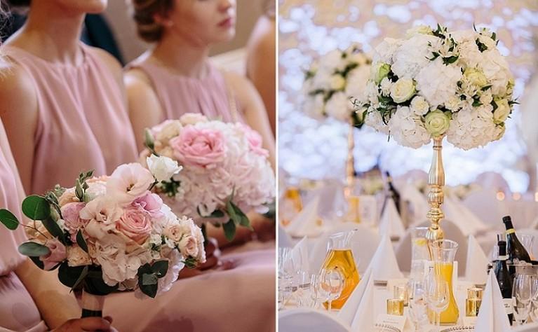 Szykowne, jednobarwne detale ślubne - jak dobrać kolor na własny ślub?