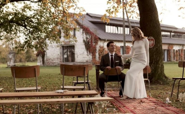Ślub plenerowy jesienią, Ceglarnia