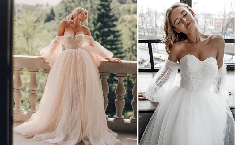 Najmodniejsze suknie ślubne z bufiastymi rękawami