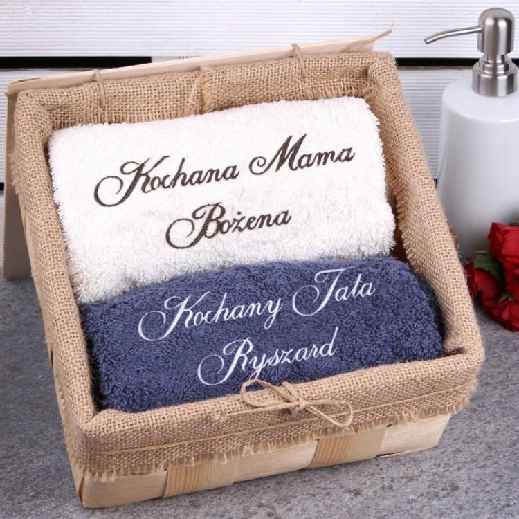 Komplet personalizowanych ręczników KOCHANI