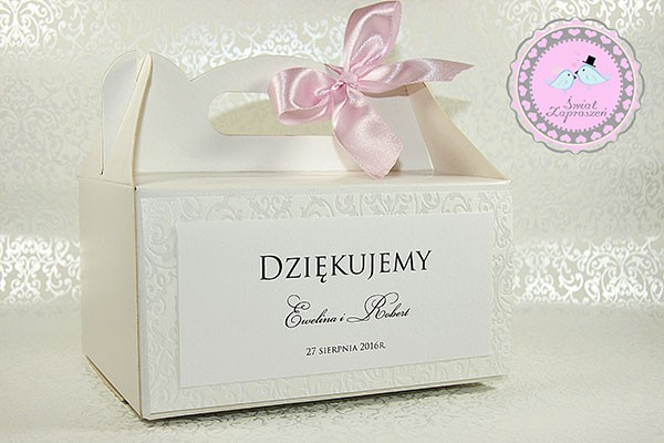 Pudełko na ciasto weselne - Pola