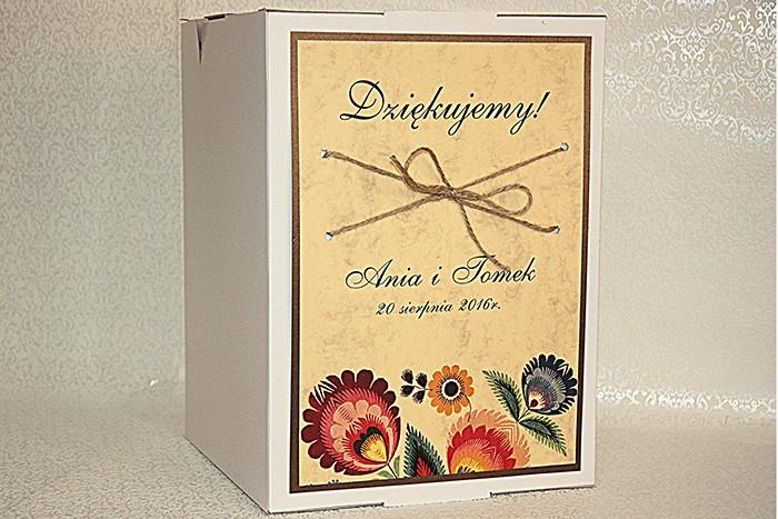 Pudełko na koperty - Folk