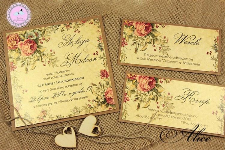 Zaproszenia Ślubne - Alice