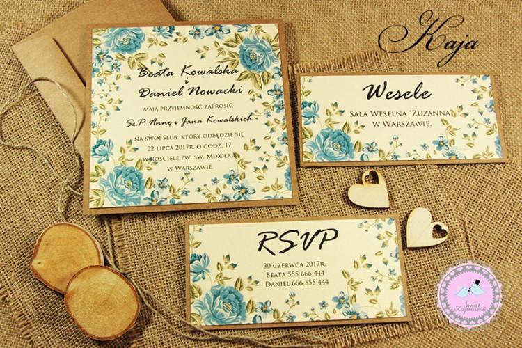 Zaproszenia Ślubne Kaja