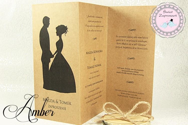 Zaproszenia Ślubne - Amber