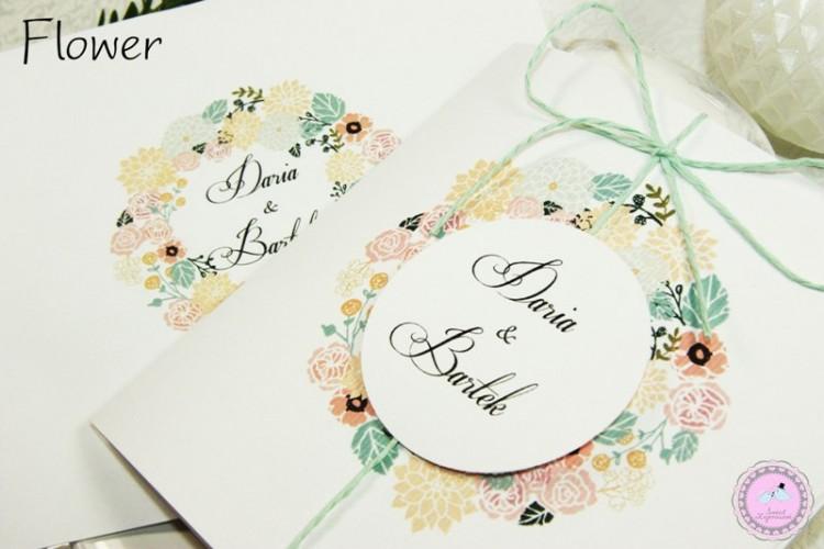 Zaproszenia ślubne - Flower