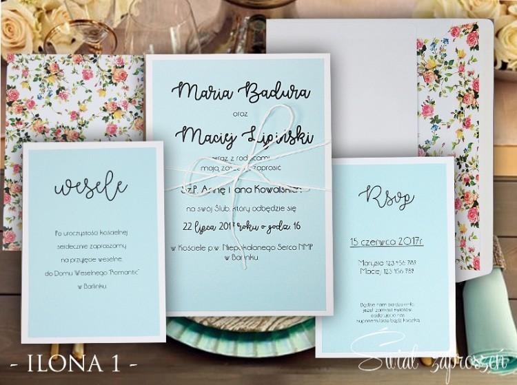 Zaproszenia Ślubne - Ilona 1