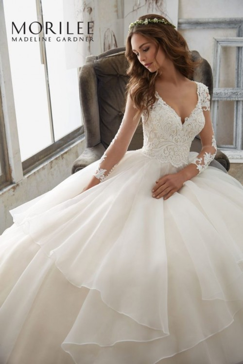 Cudowna Suknia Ślubna Mori Lee - 5517 z koronkowym gorsetem - SlubNaGlowie.pl ZQ62