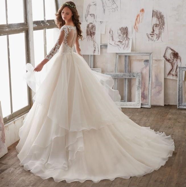 Suknia Ślubna Mori Lee - 5517 z koronkowym gorsetem
