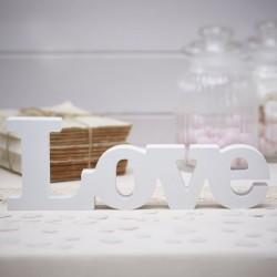 Litery drewniane NAPIS LOVE Dekoracja STOŁU