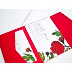 Zaproszenie Romance w folderze