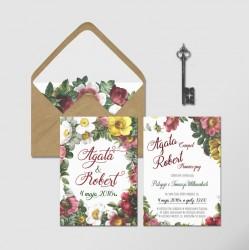 Zaproszenia ślubne Secret Garden