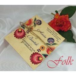 Zaproszenia ślubne FOLK