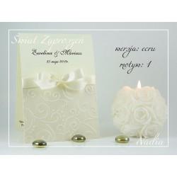 Zaproszenia ślubne NADIA