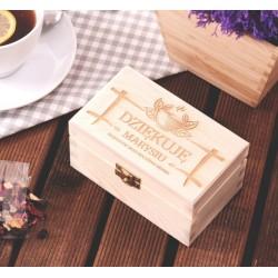 Herbatka w personalizowanej skrzynce DZIĘKUJĘ