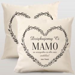 Komplet poduszek personalizowanych PODZIĘKOWANIE
