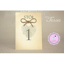 Numerki na stoły - Tessa