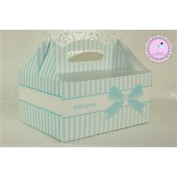 Pudełko na ciasto - Błękitne