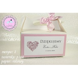 Pudełko na ciasto weselne - Heart