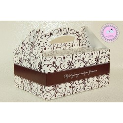 Pudełko na ciasto - Brązowe