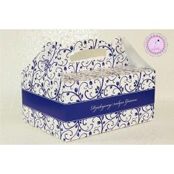 Pudełko na ciasto - Chabrowe