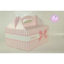 Pudełko na ciasto - Różowe
