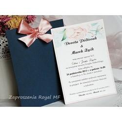 Zaproszenia ślubne Perłowy róż