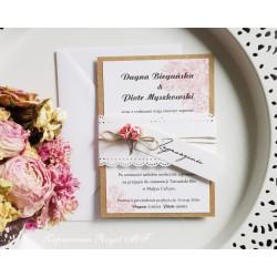Zaproszenia ślubne Pani Kronka