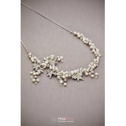 Megan | naszyjnik ślubny z perłami i kryształkami