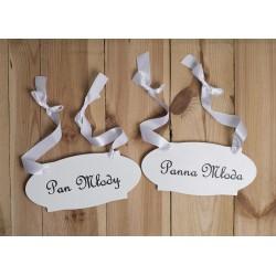SYCYLIA Tabliczki do zdjęć ślubnych i na krzesła Pary Młodej