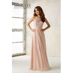 Romantyczna suknia wieczorowa Mori Lee z szyfonu