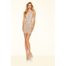 Koktajlowa suknia w kolorze Rose Gold Sticks&Stones 9366