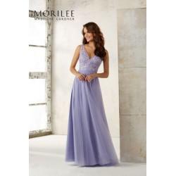Tiulowa suknia Mori Lee z dekoltem V - 21521