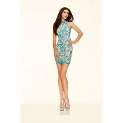 Koktajlowa suknia w kolorze Turquoise Sticks&Stones  9366