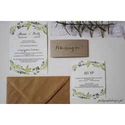 Botaniczne zaproszenia ślubne
