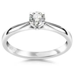 Éternel - platynowy pierścionek z diamentem