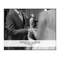 Ślubny minimalizm - Fotoksiążka 25x20