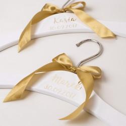 SACRAMENTO spersonalizowane złote wieszaki ślubne
