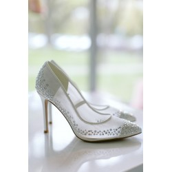 Ksis Wedding Shoes | Claudia łamana biel