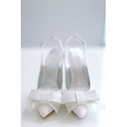 Kiss Wedding Shoes | Ella brokatowa biel