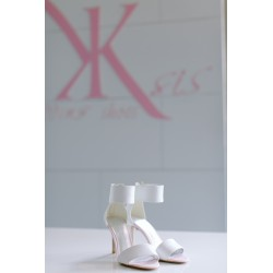 Ksis Wedding Shoes | Rose łamana biel