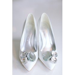 Ksis Wedding Shoes | Lacey łamana biel