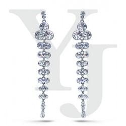 Kolczyki ślubne Veronique Crystal White