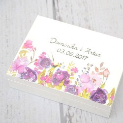 Pudełko na obrączki PURPLE FLOWERS&LOVE