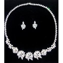 Komplet biżuterii ślubnej z kryształami Amarella