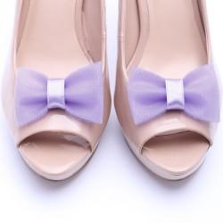 Fioletowe klipsy do butów