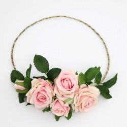 Ślubny wianek z róż