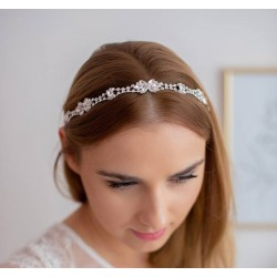 Biżuteryjna opaska ślubna