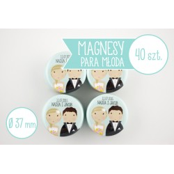 Upominki dla gości weselnych - magnesy ślubne